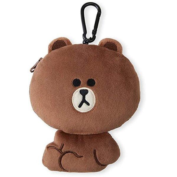 布朗熊 零钱包钥匙链