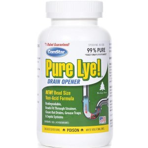 $5.80 ComStar 024924305003 Pure Lye Bead Drain Opener, 1 lb, White @ Amazon