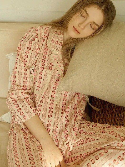 印花睡衣套装