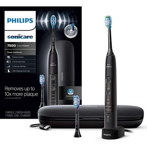 HX9690/05 ExpertClean 7500 Bluetooth Rechargeable Electric Toothbrush, Black
