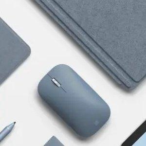 低至5.5折 €19.37收封面冰蓝色Microsoft Surface 无线蓝牙鼠标热卖 简约时尚 小清新配色