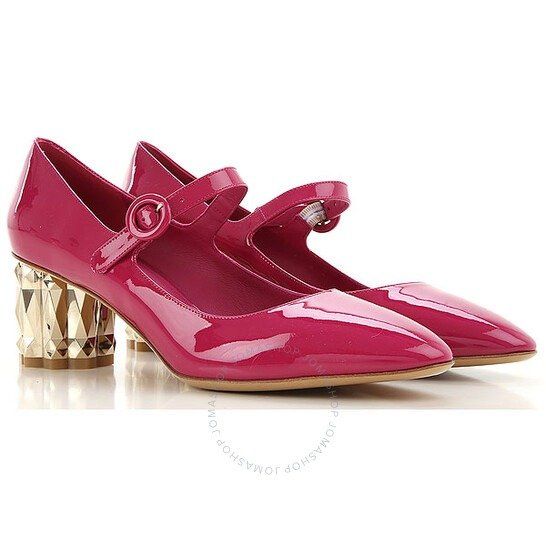 Ortensia粉色高跟鞋