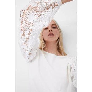 French ConnectionJosephine Lace Sleeve Jumper