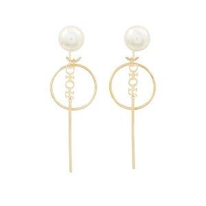 Dior珍珠耳钉