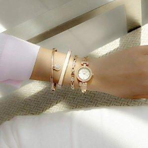 $50.99Anne Klein Women's Swarovski Crystal-Accented Watch Set