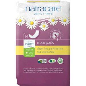 Natracare有机棉无翼卫生巾 14片