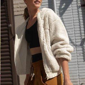 爆款Align黑花岗岩色$88Lululemon 爆款泰迪熊双面夹克、秋季新配色外套 耳罩$38