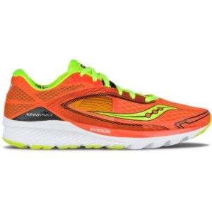 Kinvara 7 橘色配荧光绿跑鞋