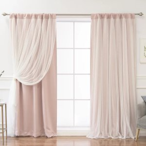 Darby Home CoHarborcreek Curtain Solid Blackout Thermal Rod Pocket Curtain Panels
