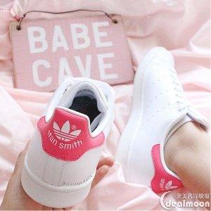 $40+ 免邮 妹子首选又降价:adidas 粉色Stan Smith 大童款多色促销