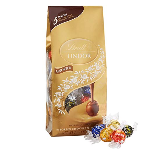 $10.69 Lindt LINDOR Assorted Chocolate Truffles, Kosher, 21.2 Ounce Bag
