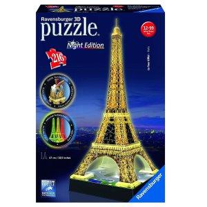 $25.73(原价$36.99)Ravensburger 埃菲尔铁塔3D拼图