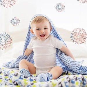 7折+无门槛包邮即将截止:Zutano 宝宝纱布包巾、小毯子特卖 平价好货