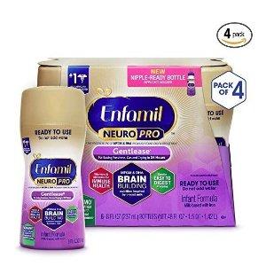 $47.97(原价$50.49)Enfamil Neuropro Gentlease 婴儿防胀气液体奶8盎司,24瓶