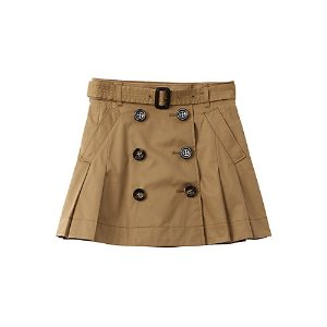 BurberryBurberry Pleated Twill Trench Skirt