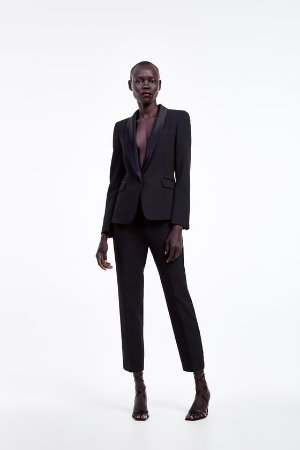 TUXEDO JACKET WITH LAPELS - WEAR TO WORK-SHOP BY COLLECTION-WOMAN | ZARA United States