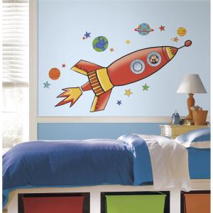 $18.98 (原价$22.99)RoomMates 火箭墙面装饰贴纸 卧室自有小宇宙