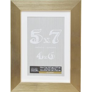 Studio DecorGold Metallic Belmont Frame with Mat by Studio Decor®