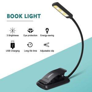 6.8折特价OMERIL 夹子式LED读书灯 USB充电