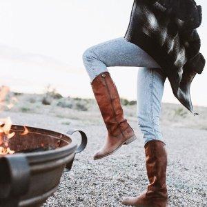 低至5折 踝靴$120+Frye 精选复古马丁靴、过膝靴 秋冬特价热卖