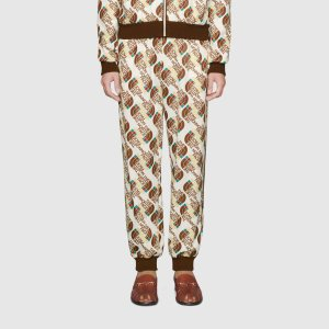 Gucci - The North Face x Gucci Web print technical jersey jogging pant