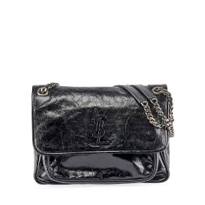 bb266d99213aa Saint LaurentUp to  300GC or double  600GCNiki Medium Monogram YSL Shiny  Leather Shoulder Bag