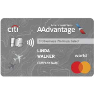 Earn 70,000 American Airlines AAdvantage® bonus miles after qualifying purchaseCitiBusiness® / AAdvantage® Platinum Select® World Mastercard®