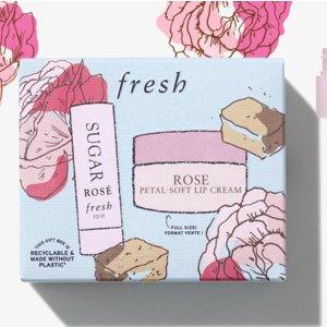 7折起,送玫瑰系列六件套!Fresh 馥蕾诗官网送豪礼!红茶 玫瑰 各种超值套装都有!