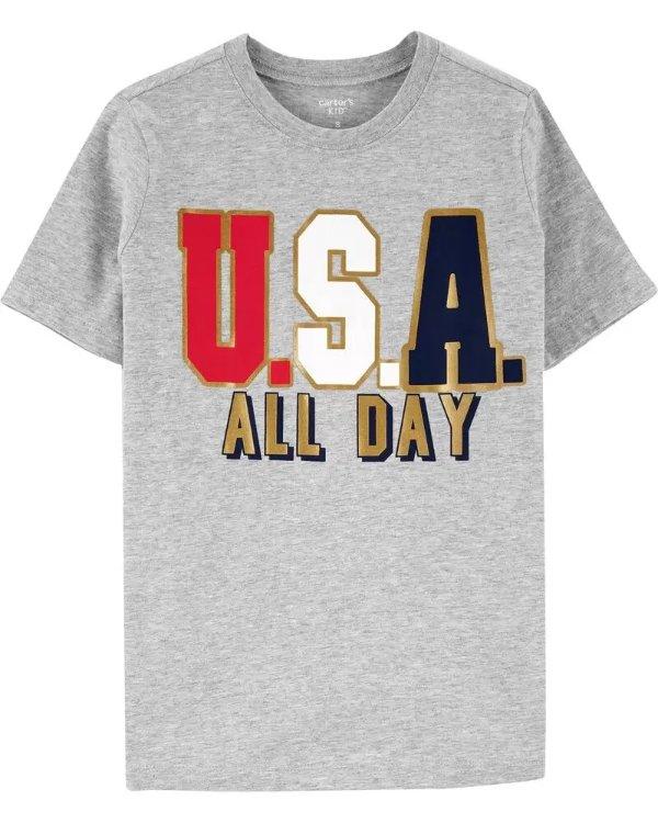 儿童USA T恤