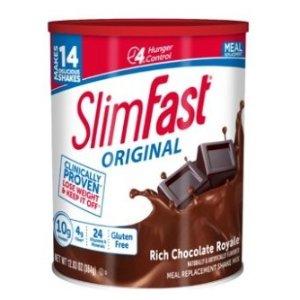 Slimfast巧克力味代餐奶粉, 12.83oz, 14 servings