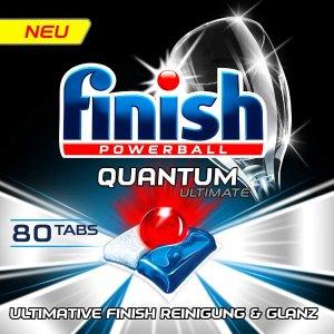 低至6.6折 €11.89收80粒Finish Quantum Ultimate 洗碗仙丹 谁说洗碗机洗不干净