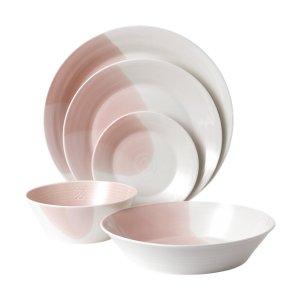 Royal Doulton满$50免费送咖啡杯小清新粉色碗盘套装 5件套