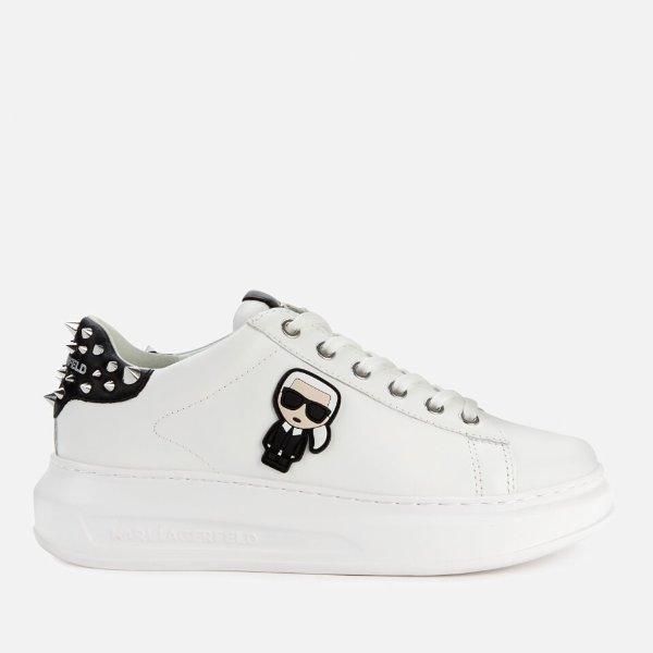 卡通厚底小白鞋