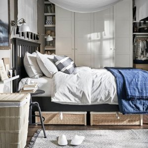 无门槛8折 带书桌Loft床$239IKEA澳洲官网 床架专场 双人床、单人床、沙发床等都有