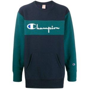 Champion(冠军)two-tone embroidered logo sweatshirt