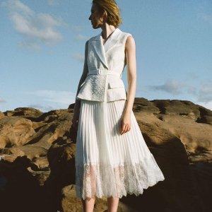 满额8折Self-Portrait 美裙专场 收粉色蕾丝连衣裙、封面款长裙