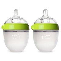 Comotomo 防胀气硅胶奶瓶5盎司,2个,绿色