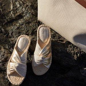 额外5折 低至$15Aerosoles outlet 鞋履大促 封面款编织拖鞋$25 多色可选