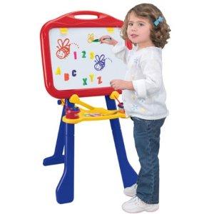 $20 (原价$29.99)Crayola 4合1 多功能可折叠儿童画板,带磁贴,学习字母和数字