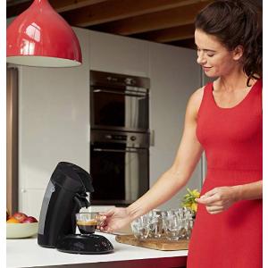 折后仅57.9欧免邮Philips 飞利浦 HD6554/68 沁心浓咖啡包式咖啡机,超值57.95欧 原价79.9欧