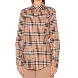 Burberry复古格纹衬衫