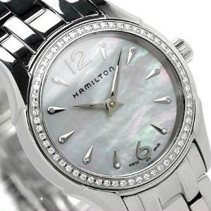$399 (原价$1560)Hamilton Jazzmaster 系列珍珠母贝镶钻时装女表