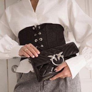 低至3折 £117收蕾丝上衣Pinko 秋冬美衣专场大促 收长袖上衣、小香风外套等