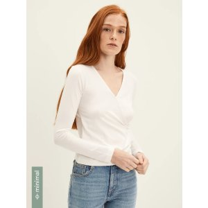 Frank And OakCotton Wrap Top in Bright White