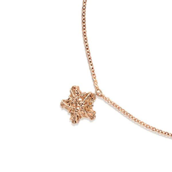 18k玫瑰金星星手链