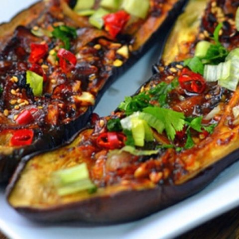 Eat More and Prepare LittleRecipe of Toast Eggplant