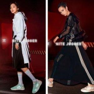 $130包邮adidas Nite Jogger 大幂幂同款清凉绿反光鞋