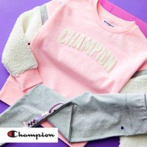 低至$8.99+无门槛包邮Champion 儿童服饰特卖 大童款成人也能穿