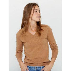 V领羊绒衫 多色选