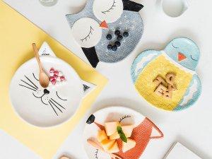 动物造型釉下彩餐碟